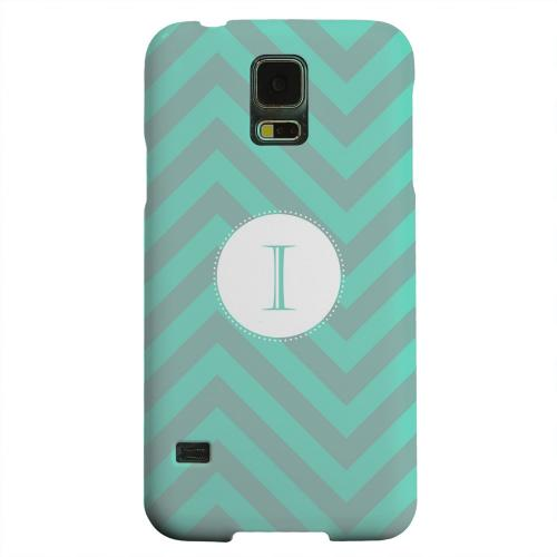 Geeks Designer Line (GDL) Samsung Galaxy S5 Matte Hard Back Cover - Seafoam Green Monogram I on Zig Zags