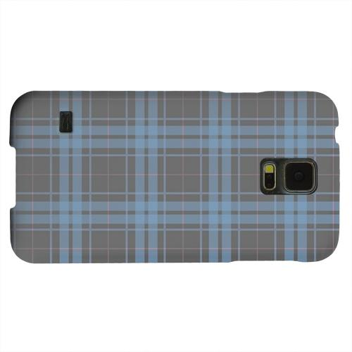 Geeks Designer Line (GDL) Samsung Galaxy S5 Matte Hard Back Cover - Blue/ Gray/ Pink Plaid