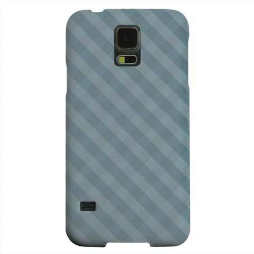 Geeks Designer Line (GDL) Samsung Galaxy S5 Matte Hard Back Cover - Blue/ Green/ White/ Gray Plaid