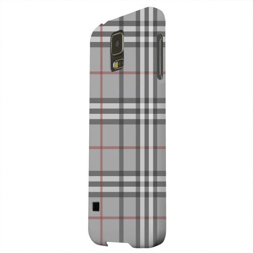 Geeks Designer Line (GDL) Samsung Galaxy S5 Matte Hard Back Cover - Classic Gray/ White/ Red Plaid