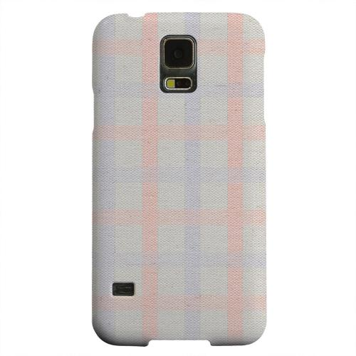 Geeks Designer Line (GDL) Samsung Galaxy S5 Matte Hard Back Cover - Faint Red/ Blue/ Gray Plaid