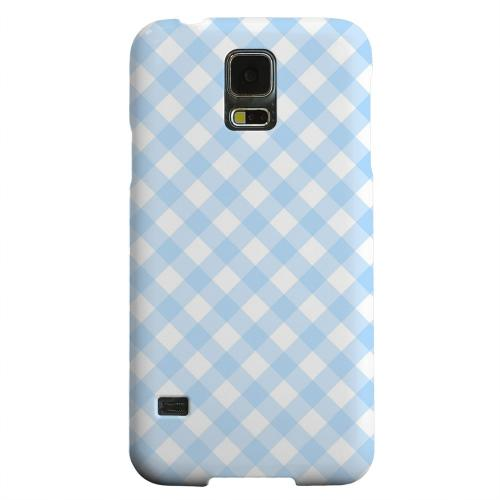 Geeks Designer Line (GDL) Samsung Galaxy S5 Matte Hard Back Cover - Light Blue Plaid
