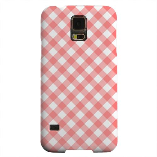 Geeks Designer Line (GDL) Samsung Galaxy S5 Matte Hard Back Cover - Light Red Plaid