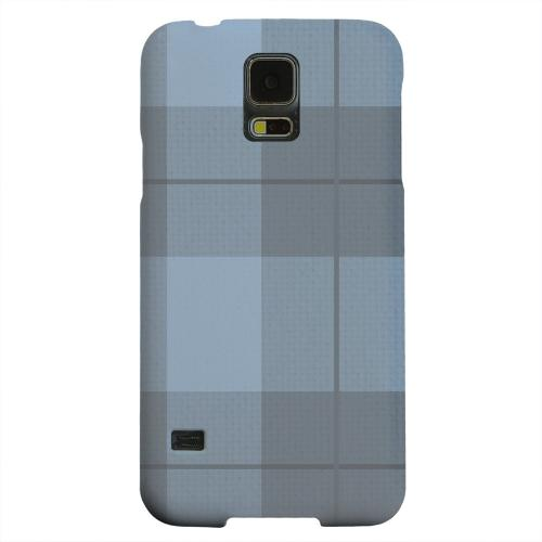 Geeks Designer Line (GDL) Samsung Galaxy S5 Matte Hard Back Cover - Off-Centered Zoom Blue Plaid
