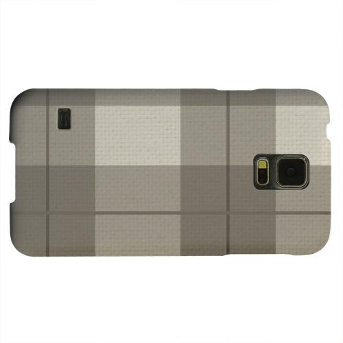Geeks Designer Line (GDL) Samsung Galaxy S5 Matte Hard Back Cover - Off-Centered Zoom Brown Plaid