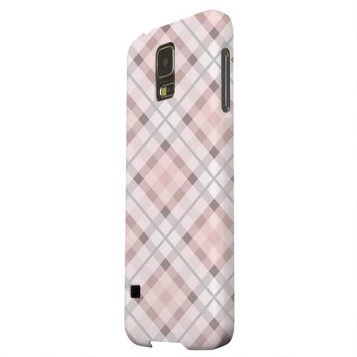 Geeks Designer Line (GDL) Samsung Galaxy S5 Matte Hard Back Cover - Pink/ Gray Plaid