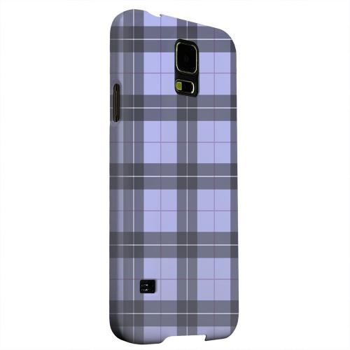 Geeks Designer Line (GDL) Samsung Galaxy S5 Matte Hard Back Cover - Scottish-Like Plaid in Purple