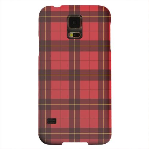 Geeks Designer Line (GDL) Samsung Galaxy S5 Matte Hard Back Cover - Scottish-Like Plaid in Red