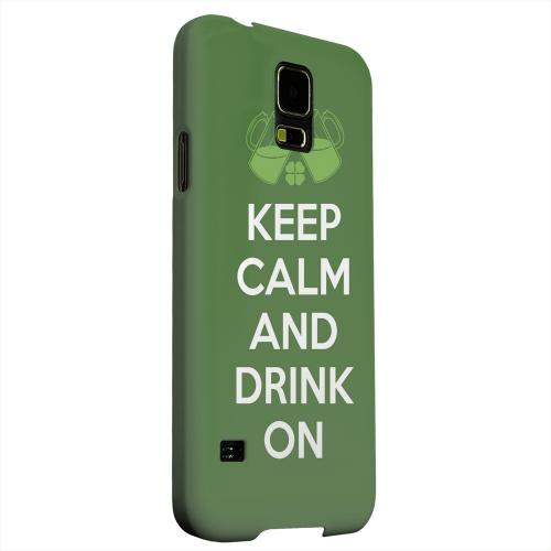 Geeks Designer Line (GDL) Samsung Galaxy S5 Matte Hard Back Cover - Drink On