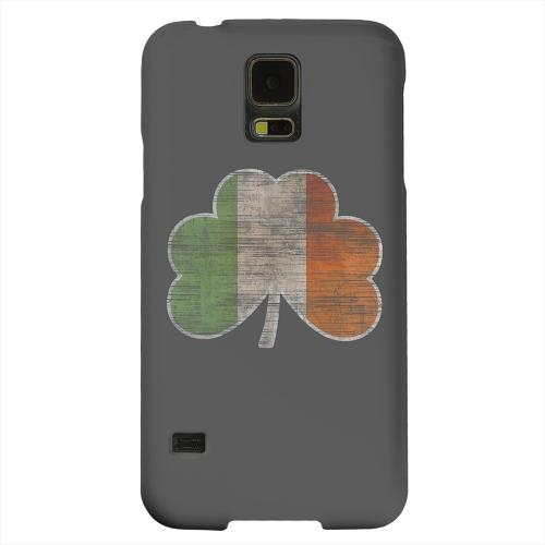 Geeks Designer Line (GDL) Samsung Galaxy S5 Matte Hard Back Cover - Irish Clover Flag