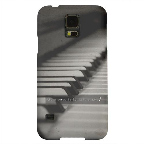 Geeks Designer Line (GDL) Samsung Galaxy S5 Matte Hard Back Cover - Music Speaks