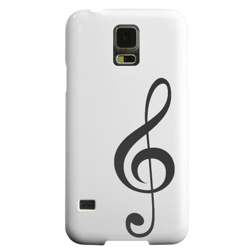 Geeks Designer Line (GDL) Samsung Galaxy S5 Matte Hard Back Cover - Simple Treble Clef