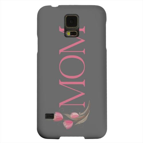 Geeks Designer Line (GDL) Samsung Galaxy S5 Matte Hard Back Cover - Tulips Mom