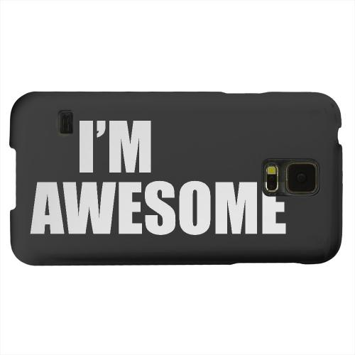 Geeks Designer Line (GDL) Samsung Galaxy S5 Matte Hard Back Cover - Awesome