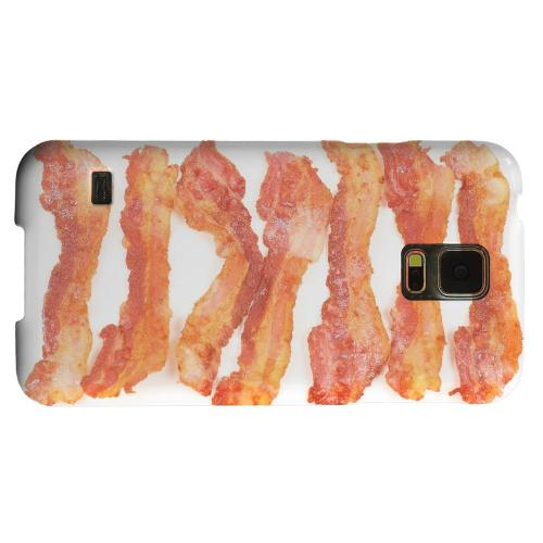 Geeks Designer Line (GDL) Samsung Galaxy S5 Matte Hard Back Cover - Bacon Goes Good
