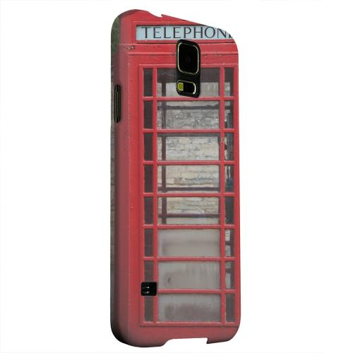Geeks Designer Line (GDL) Samsung Galaxy S5 Matte Hard Back Cover - English Telephone Booth