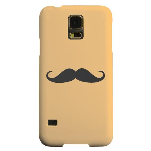 Geeks Designer Line (GDL) Samsung Galaxy S5 Matte Hard Back Cover - Mustache Orange