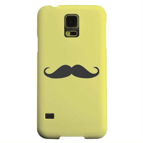 Geeks Designer Line (GDL) Samsung Galaxy S5 Matte Hard Back Cover - Mustache Yellow
