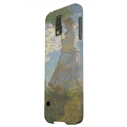 Geeks Designer Line (GDL) Samsung Galaxy S5 Matte Hard Back Cover - Woman with a Parasol by Claude Monet