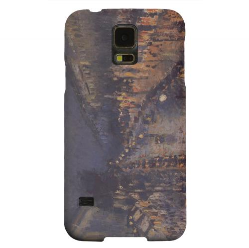 Geeks Designer Line (GDL) Samsung Galaxy S5 Matte Hard Back Cover - Boulevard Montmarte at Night by Camille Pisarro