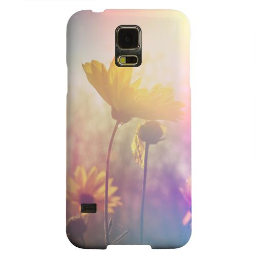 Geeks Designer Line (GDL) Samsung Galaxy S5 Matte Hard Back Cover - Colorful Daisy Bloom