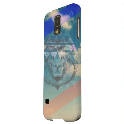 Geeks Designer Line (GDL) Samsung Galaxy S5 Matte Hard Back Cover - Majestic Lion in the Sky