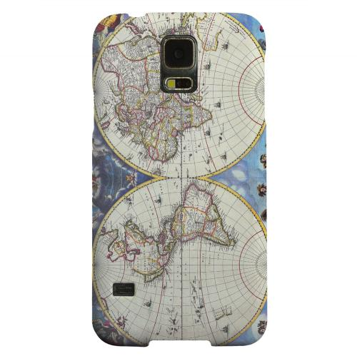 Geeks Designer Line (GDL) Samsung Galaxy S5 Matte Hard Back Cover - Terrarum Orbis Tabula Pictomap