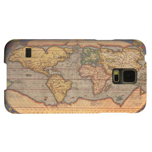 Geeks Designer Line (GDL) Samsung Galaxy S5 Matte Hard Back Cover - Ortelius World Map 1601