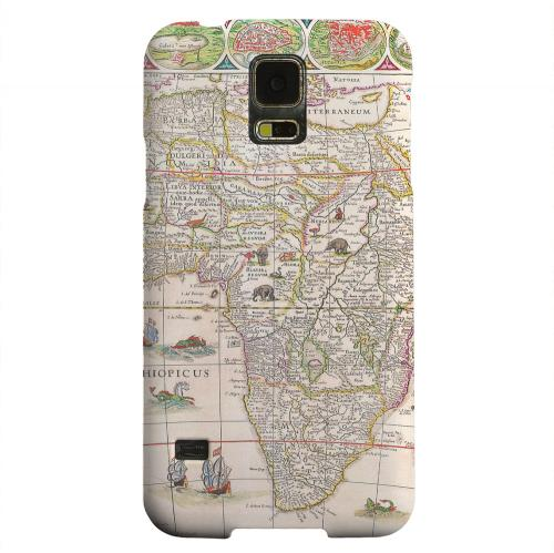 Geeks Designer Line (GDL) Samsung Galaxy S5 Matte Hard Back Cover - Map of Africae