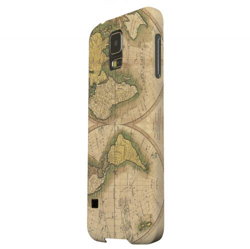 Geeks Designer Line (GDL) Samsung Galaxy S5 Matte Hard Back Cover - Map of the World Circa 1770's