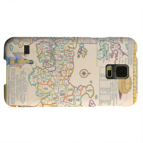 Geeks Designer Line (GDL) Samsung Galaxy S5 Matte Hard Back Cover - Old Japanese Empire Map
