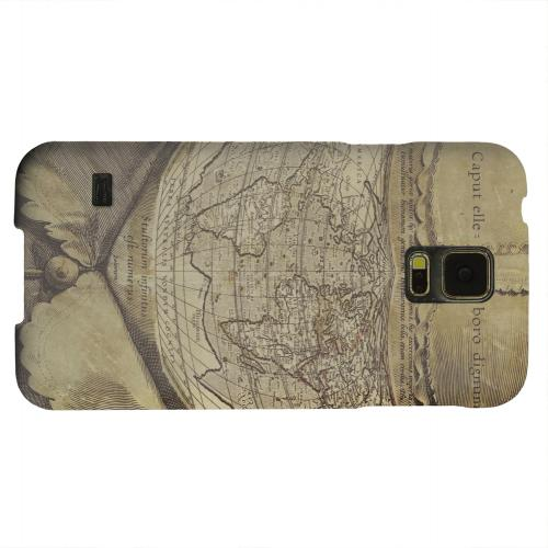Geeks Designer Line (GDL) Samsung Galaxy S5 Matte Hard Back Cover - Ancient Map Head