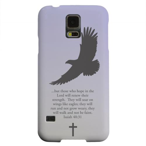 Geeks Designer Line (GDL) Samsung Galaxy S5 Matte Hard Back Cover - Isaiah 40:31 - Sleepy Grape