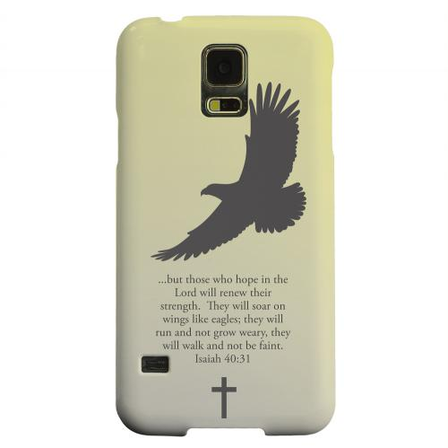 Geeks Designer Line (GDL) Samsung Galaxy S5 Matte Hard Back Cover - Isaiah 40:31 - Sunset Yellow