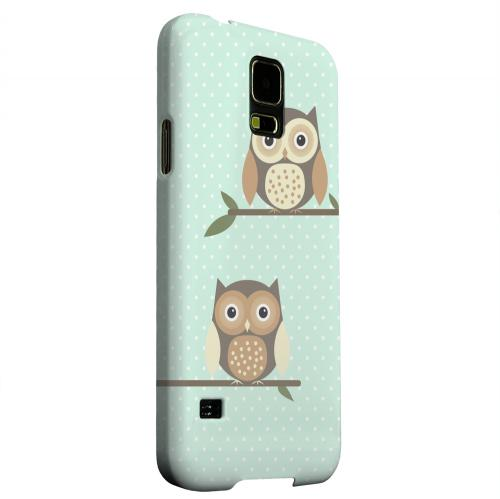 Geeks Designer Line (GDL) Samsung Galaxy S5 Matte Hard Back Cover - Retro Owls on Polka Dots