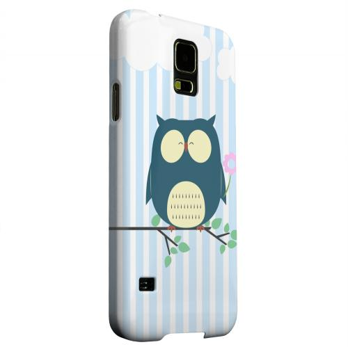 Geeks Designer Line (GDL) Samsung Galaxy S5 Matte Hard Back Cover - Fat Peaceful Owl on Tree Branch