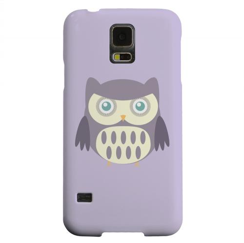 Geeks Designer Line (GDL) Samsung Galaxy S5 Matte Hard Back Cover - Chubby Purple Owl