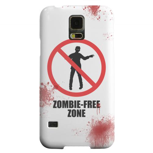 Geeks Designer Line (GDL) Samsung Galaxy S5 Matte Hard Back Cover - Zombie-Free Zone