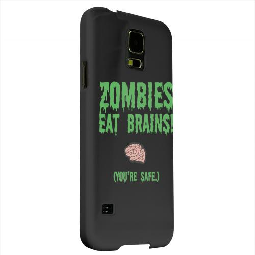 Geeks Designer Line (GDL) Samsung Galaxy S5 Matte Hard Back Cover - Zombies Eat Brains