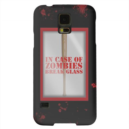 Geeks Designer Line (GDL) Samsung Galaxy S5 Matte Hard Back Cover - In Case of Zombies Break Glass