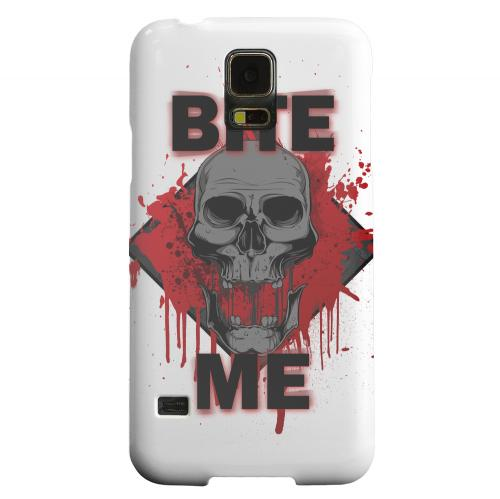Geeks Designer Line (GDL) Samsung Galaxy S5 Matte Hard Back Cover - Bite Me on White
