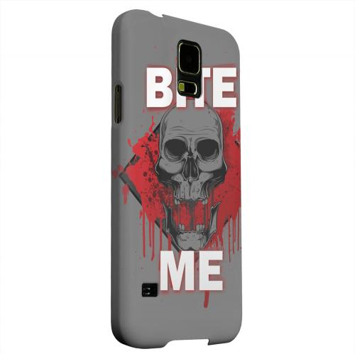 Geeks Designer Line (GDL) Samsung Galaxy S5 Matte Hard Back Cover - Bite Me on Gray