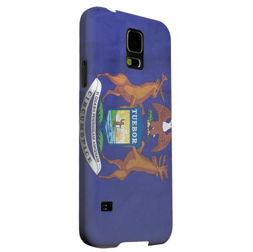 Geeks Designer Line (GDL) Samsung Galaxy S5 Matte Hard Back Cover - Grunge Michigan