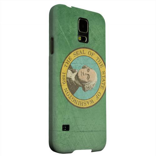 Geeks Designer Line (GDL) Samsung Galaxy S5 Matte Hard Back Cover - Grunge Washington