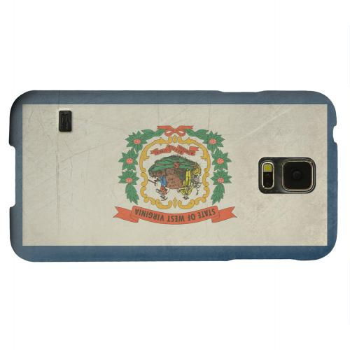 Geeks Designer Line (GDL) Samsung Galaxy S5 Matte Hard Back Cover - Grunge West Virginia
