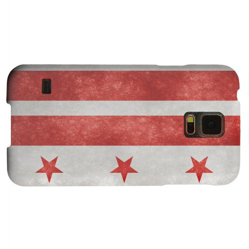 Geeks Designer Line (GDL) Samsung Galaxy S5 Matte Hard Back Cover - Grunge Washington, D.C.