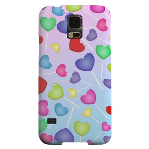 Geeks Designer Line (GDL) Samsung Galaxy S5 Matte Hard Back Cover - Assorted Heart Lollipops