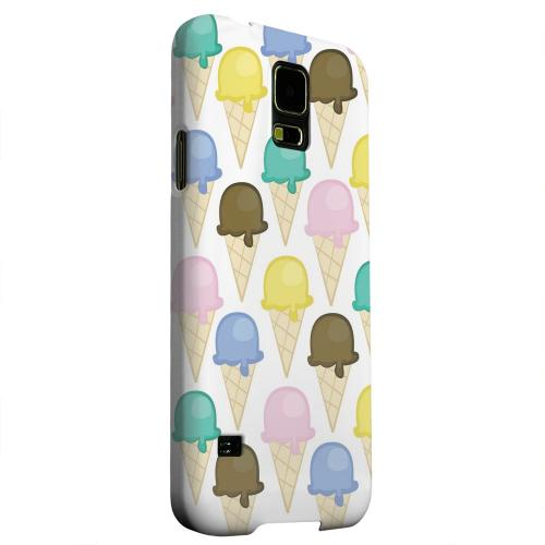 Geeks Designer Line (GDL) Samsung Galaxy S5 Matte Hard Back Cover - Assorted Ice Cream Cones
