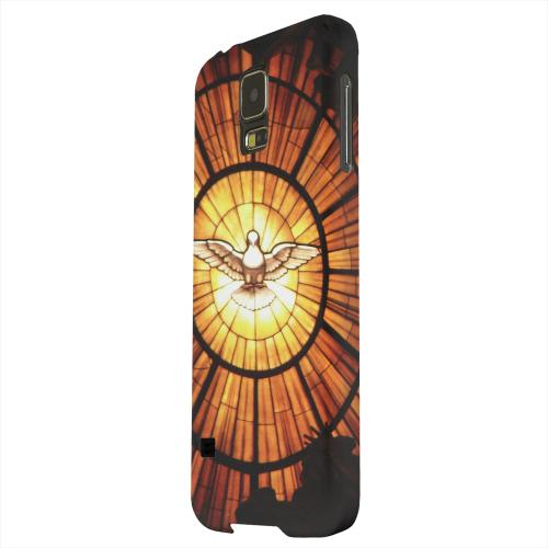 Geeks Designer Line (GDL) Samsung Galaxy S5 Matte Hard Back Cover - Holy Spirit Glass
