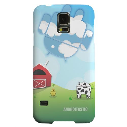 Geeks Designer Line (GDL) Samsung Galaxy S5 Matte Hard Back Cover - Old McDroidald Had a Farm